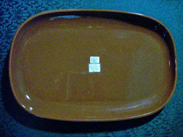 "R. Wright ""American Modern"" Platter  1939-59 Bean Brown  85.00"
