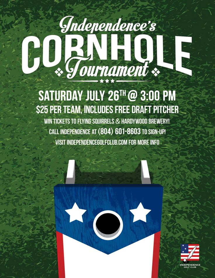 Bean Bag Tournament Flyer Design Inspiration 1st Annual