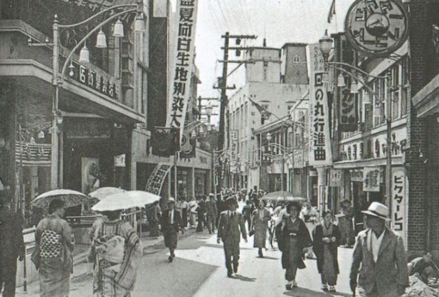 Myeongdong District, Seoul, under the Japanese Empire.
