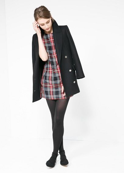 Vestido cuadro escocés