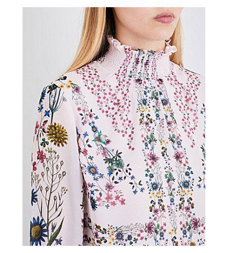 TED BAKER - Unity floral-print chiffon blouse   Selfridges.com