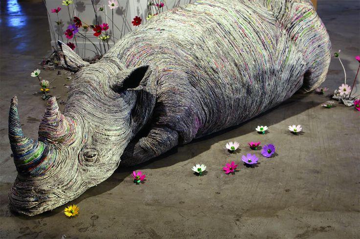 De Japanse kunstenaar Chie Hitotsuyama maakt realistische sculpturen van dieren met behulp van een bijzondere techniek.