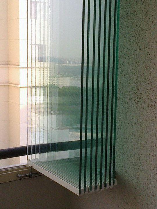 Cerramiento Vidriado sin parantes ni perfiles Verticales, Divisor de ambientes, Ideal para balcones, quinchos y galerias.