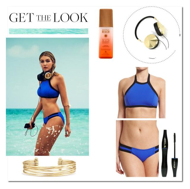 """""""Gigi Hadid - Get the look  #2"""" by kazami11 on Polyvore featuring moda, Frends, Lancôme, Seafolly, Stella & Dot, GetTheLook, Swimsuits, seafolly e gigihadid"""