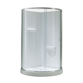OVE Decors Acrylic Wall and Floor Round 4-Piece Corner Shower Kit (Actual: 76-in x 34-in x 34-in)