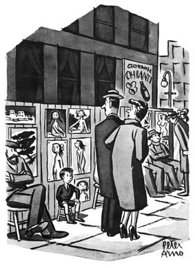 "Viñeta de Peter Arno, cometado en ""HUMORISTAS"" de Paul Johnson. Edita Ático de libros #libros #books #pauljohnson #humor #biografías"