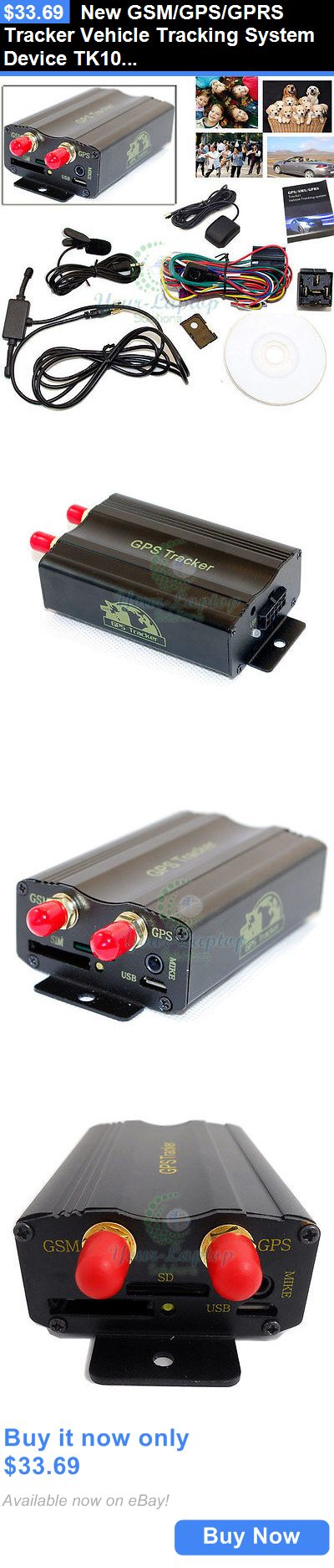 Tracking Devices: New Gsm/Gps/Gprs Tracker Vehicle Tracking System Device Tk103a With Alarm BUY IT NOW ONLY: $33.69