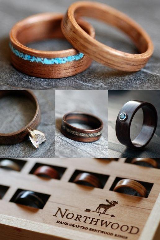 Fedi eco-friendly   Non solo oro giallo per il matrimonio ma anche legno e metalli riciclati  Photography: Northwood
