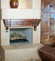 spanish style fireplaces | of the fireplace mantel shelves on the Southwestern style fireplaces ...