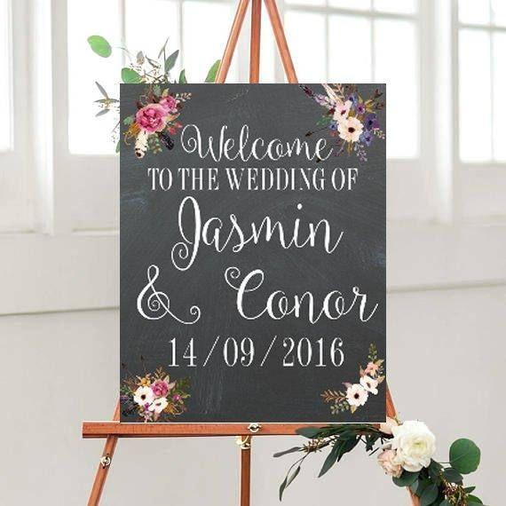 Custom Wedding signs Chalkboard Welcome Sign Printable