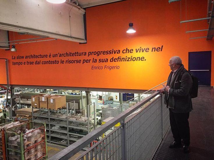 SLOW ARCHITECTURE on the wall // Stabilimento e uffici Sambonet, Orfengo (NO) 2012