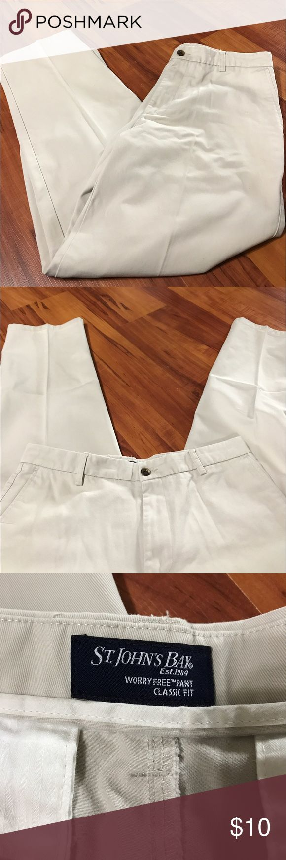 St. John's Bay men's khaki pants St. John's Bay men's khaki pants classic fit size 34/30. In good used condition. Perfect for date night! St Johns Bay Pants Chinos & Khakis