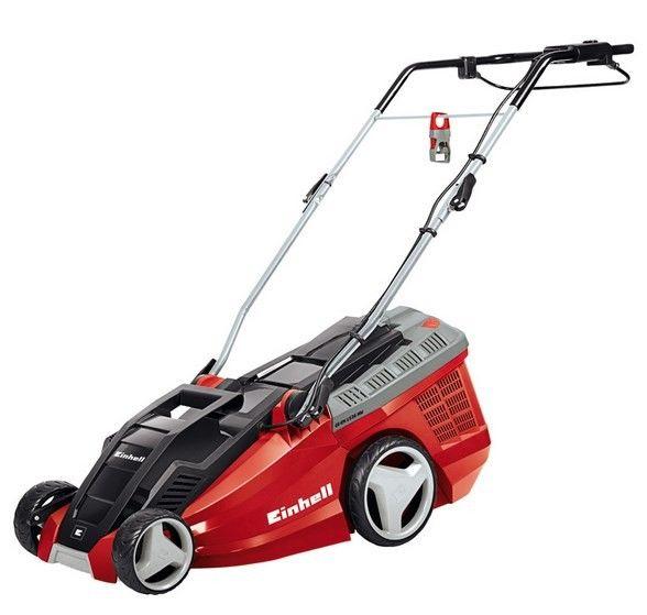 Einhell GE-EM 1536 HW Elektrikli Çim Biçme Makinası  Art. Nr: 3400294 Einhell GE-EM 1536 HW Elektrikli Çim Biçme Makinası 1500 Watt güçlü karbon motoru ile 600 m² civarında olan bahçelerin çim biçme işleri için ideal bir makinadır. 6 kademeli yükseklik ayarı ile farklı çim boyları için yükseklik ayarlanabilir. 40 litrelik geniş çim haznesi ara vermeden uzun süreler çalışılmasını sağlar.