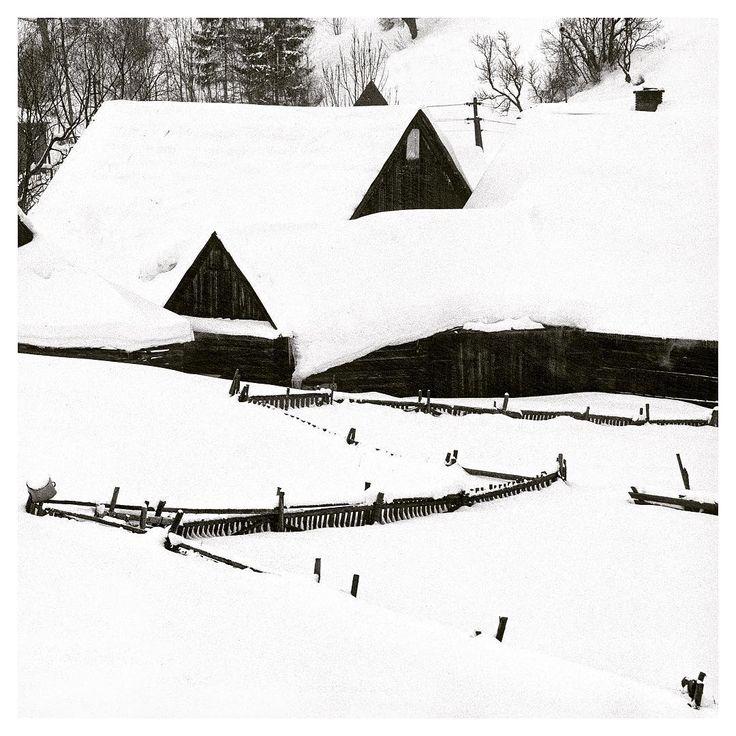 Winter graphics #slovakia #mountains #nikon #f70 #shotonfilm #blackandwhite #landscape #landscapephotography #buyfilmnotmegapixels #filmisnotdead #awesomenature #gooutside #explore #landscapelovers  #ishootfilm #filmcomunity #keepfilmalive #sun #snow #winter #tekelphoto #delta100 #ilford #ilfordfilm #osturna #village