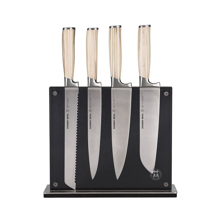 Designed with high-polished, ultra-strong German stainless steel blades and rustic bone handles, Schmidt Brothers' assortment of high-quality knives are cut out for any variety of kitchen tasks. | Ger