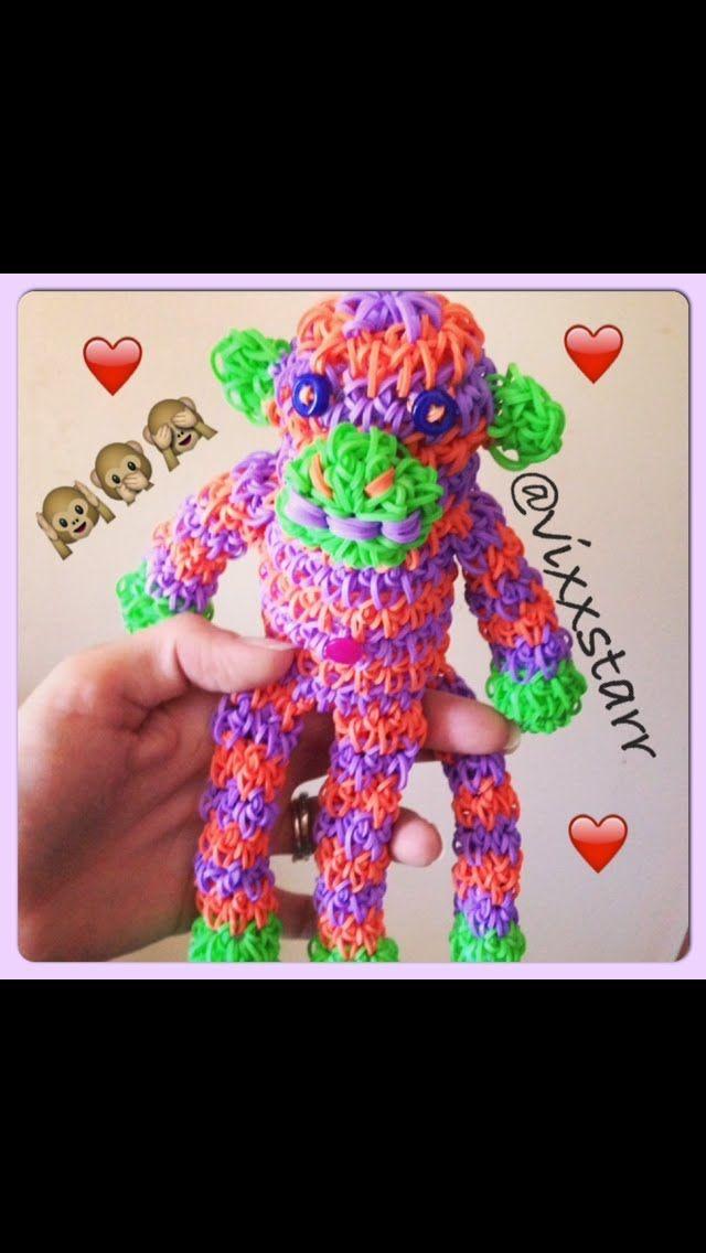Mini Spunky Sock Monkey Loomigurumi Tutorial (Rainbow Loom Amigurumi)