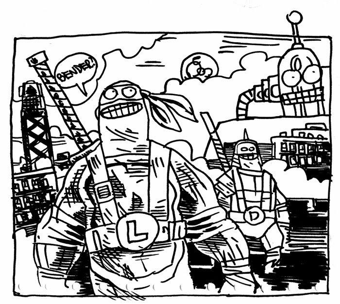 Jakub Kijuc komiks ilustracja: Turtlesy
