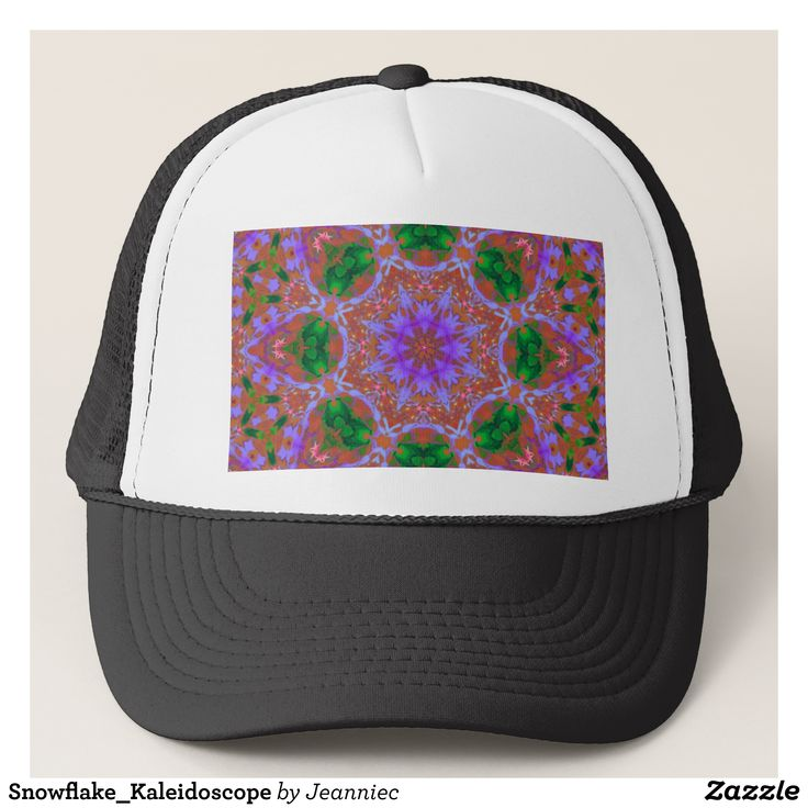 Snowflake_Kaleidoscope Trucker Hat - Urban Hunter Fisher Farmer Redneck Hats By Talented Fashion And Graphic Designers - #hats #truckerhat #mensfashion #apparel #shopping #bargain #sale #outfit #stylish #cool #graphicdesign #trendy #fashion #design #fashiondesign #designer #fashiondesigner #style
