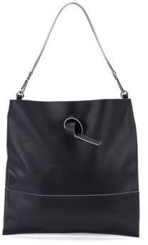 HUGO BOSS Italian Leather Handbag Modern Day Tote One Size Black