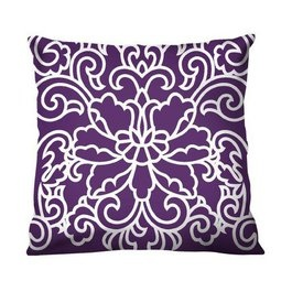Purple throw pillow for sofa