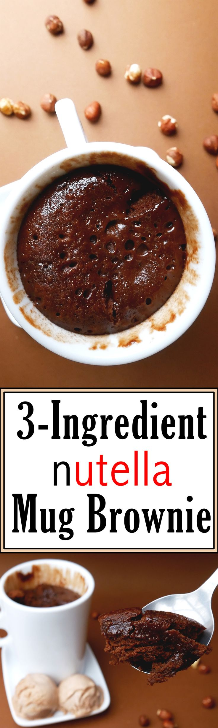 With just a few ingredients and about 10 minutes, you can make a delicious single-serving Nutella mug brownie!
