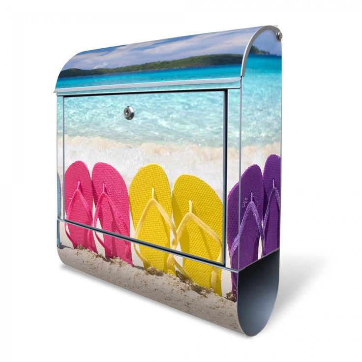 Großer Briefkasten mit Motiv #banjado #Holiday #Flip Flops #Beach #Urlaub #Familie