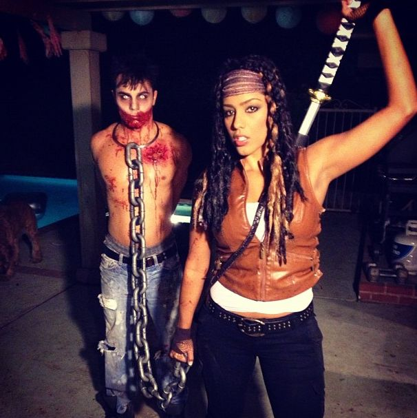 I don't even really like the Walking Dead, but this Michonne cosplay is beast.