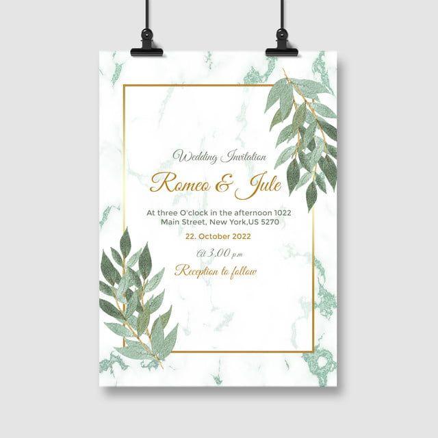 Green Wedding Invitation Card Template Wedding Invitations Green Wedding Invitations Wedding Invitation Card Template