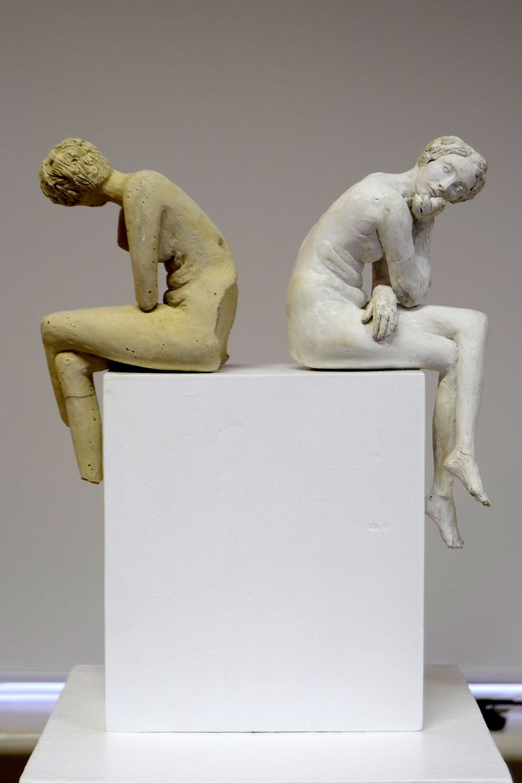 'lmao' - cement cast and resin cast