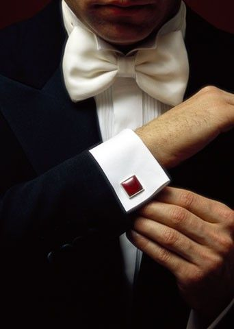 French cuff, bow tie