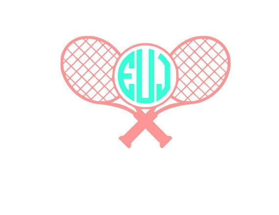 Tennis Racquet Personalized Monogram by SuperiorVinylDesigns