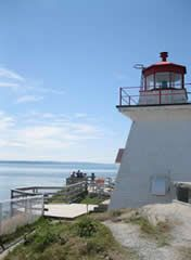 lighthouse at Cape Enrage, Bay of Fundy; June 18 or 19, 10 miles from Alma; highest tides in world