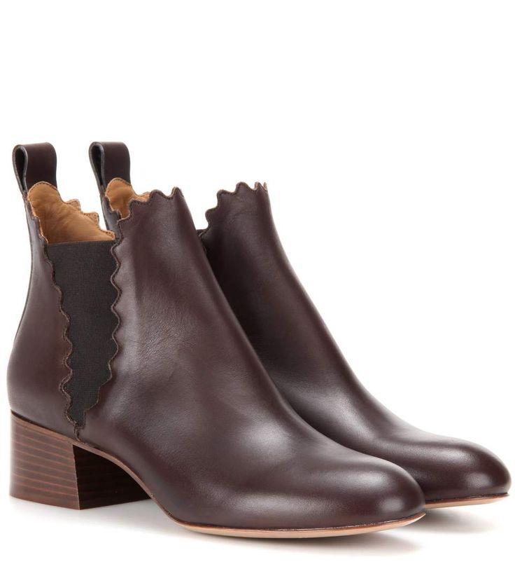 Lauren dark brown leather Chelsea boots