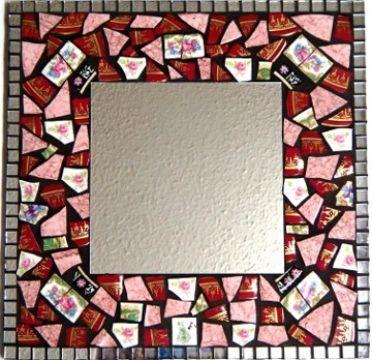 Rose's mosaic China Mirror