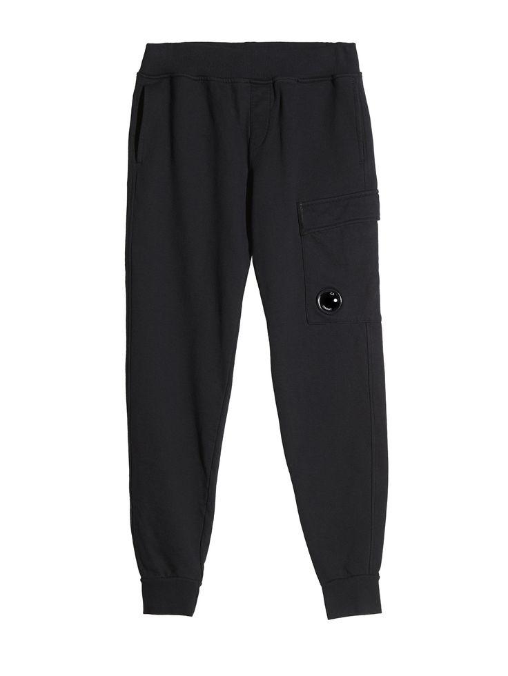 C.P. Company Fleece Trousers in Black