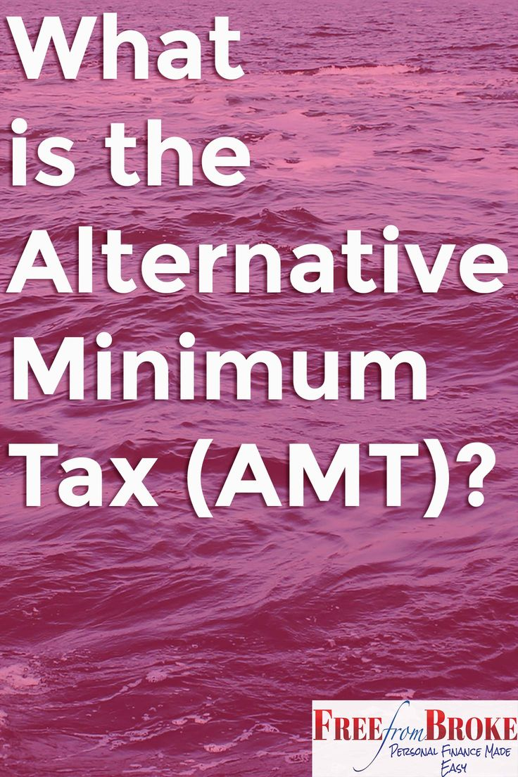 What is the alternative minimum tax and how does it affect your taxes? See what the AMT is and which taxpayers it affects and some ways the AMT kicks in. http://freefrombroke.com/what-is-the-alternative-minimum-tax-amt-and-how-does-it-impact-your-taxes/
