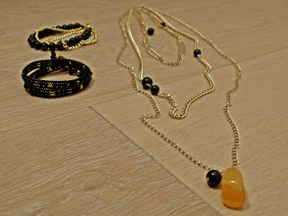Giuligiu necklace and bracelets. Gold and black!