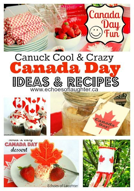 Great ideas for all your celebrations on Canada Day!