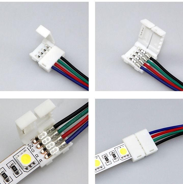 Cheap led light strip connector, Buy Quality connector cap directly from China connector rj45 Suppliers: 			Descrition				  				  				type: 2*4pin RGB connector				  				use for: LED RGB strip connect