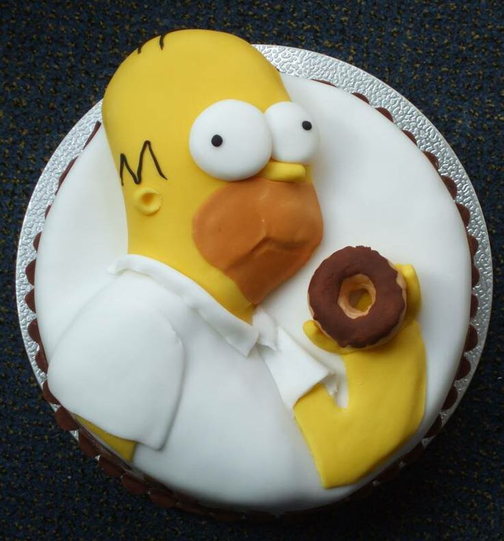 Homer simpson cake from my cake creations - Simpson anniversaire ...