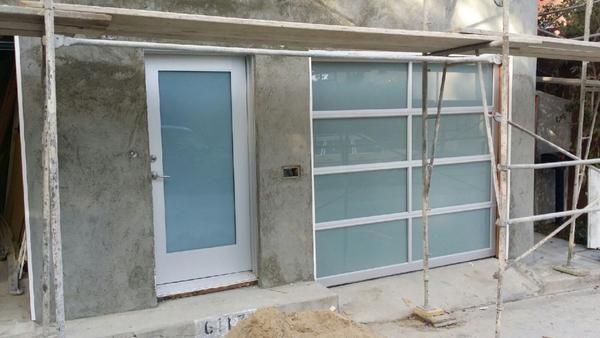 Contemporary Aluminum White Laminate Privacy Glass Garage Door Glass Garage Door White Laminate Privacy Glass