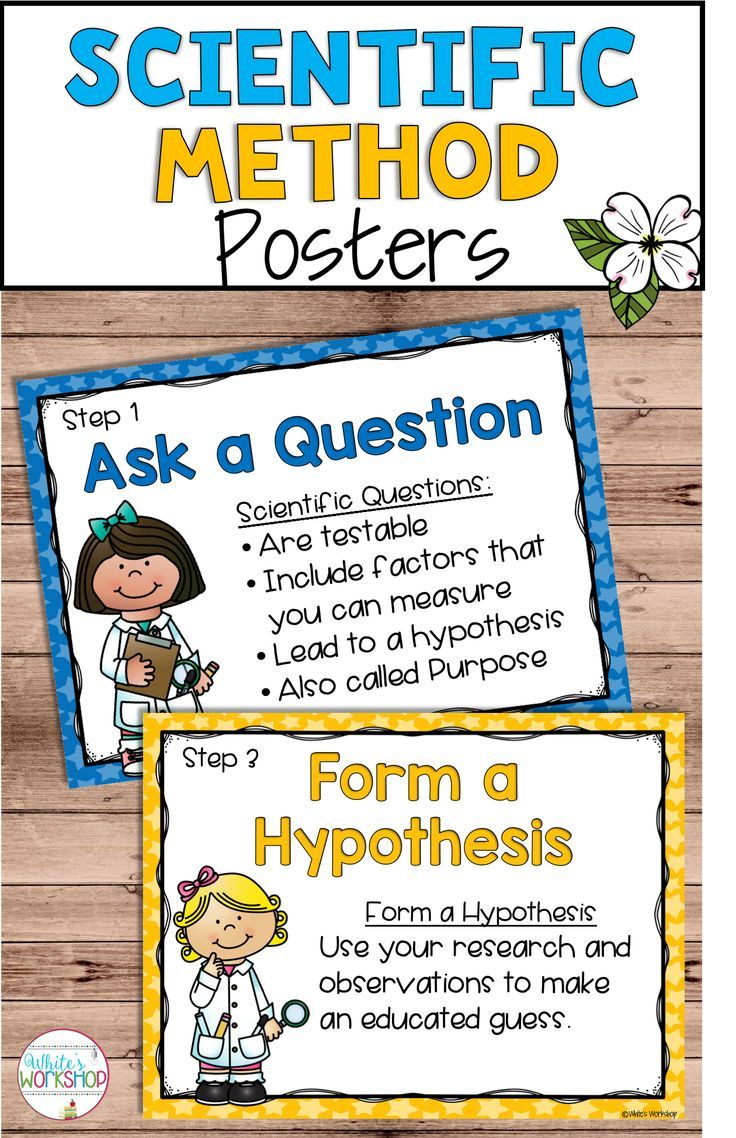 Scientific Method Posters And Worksheets Scientific Method Posters Scientific Method Scientific Method Activities