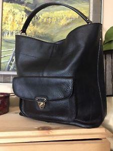 BANANA REPUBLIC LEATHER MELISSA HOBO TOTE PURSE BAG Black Mint $175  | eBay