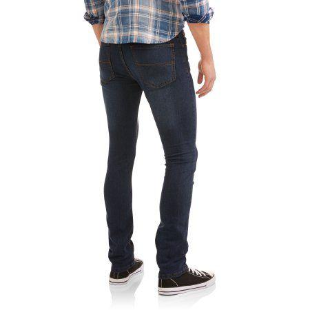 Swiss Cross Men's Skinny Jean with Stretch, Size: 34 x 32, Blue