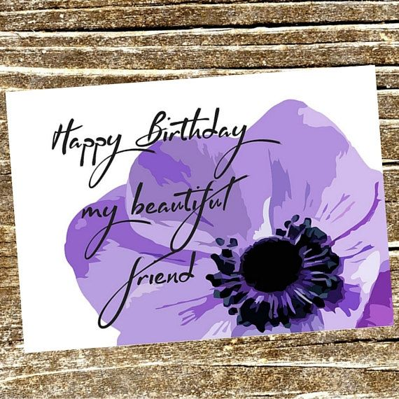 Happy Birthday My Beautiful Friend Printable On Etsy