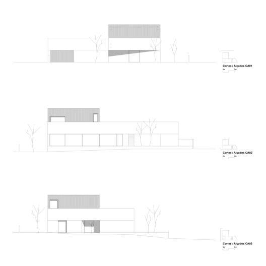 House in Avanca,Elevations