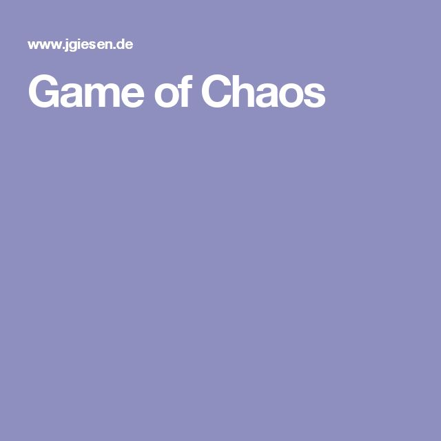 Game of Chaos