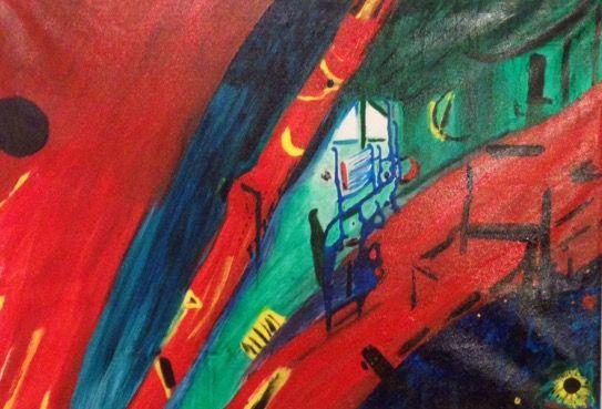 Stormen - Akryl på canvas