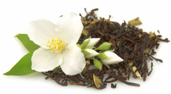 """Jasmine tea is not considered an """"herbal tea"""", because it is actually normal tea (green, white, black, or oolong) that is flavored with jasmine flowers to create the unique scent and taste. Health benefits of jasmine tea include a reduced risk of heart attacks, a stronger immune system, and the prevention of diabetes."""