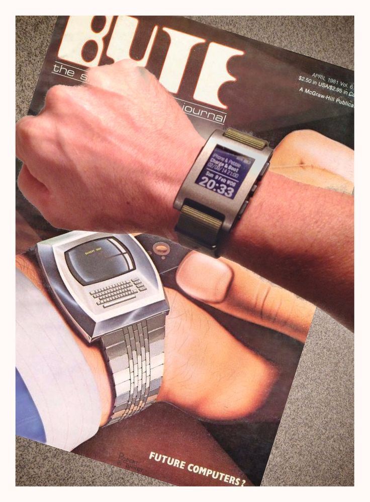 """Pebble GadgetWraps Smartwatch - BYTE, April1981 """"Future Computers?"""""""